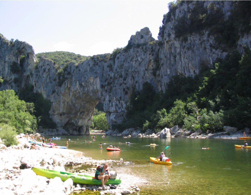 Kayaking on the Ardèche - Pont d'Arc