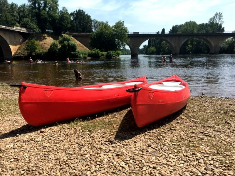 Canoes at Limeuil, Dordogne