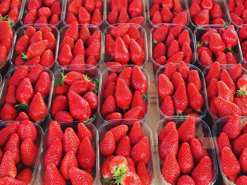 Strawberries at le Bugue market
