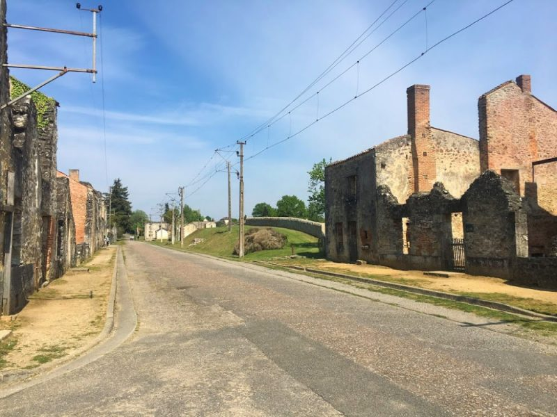 Empty streets in Oradour-sur-Glane