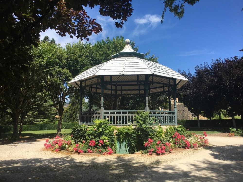 Bandstand at the Jardin du Plantier in Sarlat