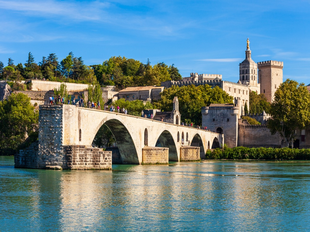 The bridge in Avignon, Provence, France