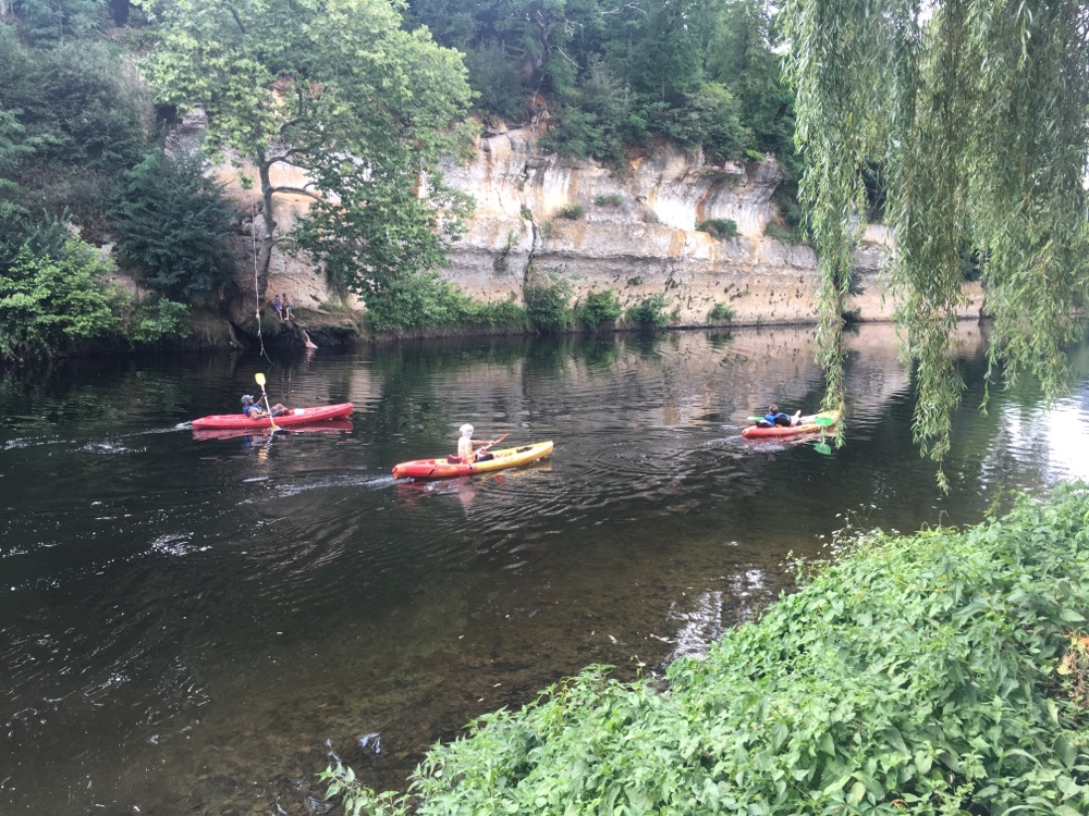 Canoeing on the Vézère