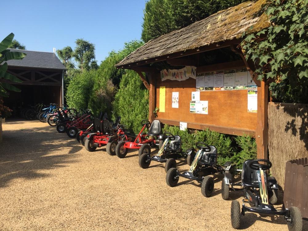 Go karting at campsite Le Paradis