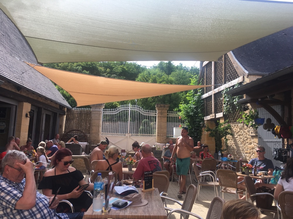 Restaurant & Bar at Campsite, Le Paradis (Dordogne)