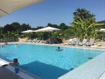 Swimming pool at campsite Le Paradis